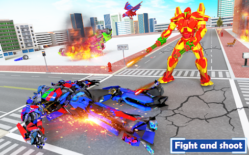 Flying Dragon Transport Truck Transform Robot Game 7