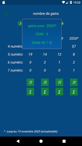 Keno FR combination statistics  screenshots 4