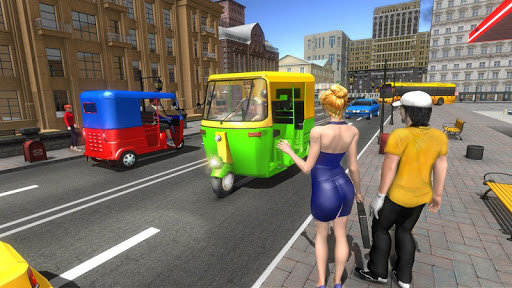 Modern Tuk Tuk Auto Rickshaw: Free Driving Games  screenshots 3