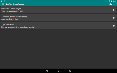 Perfect Chess Trainer Demo