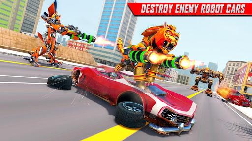 Lion Robot Car Transforming Games: Robot Shooting 1.8 Screenshots 9