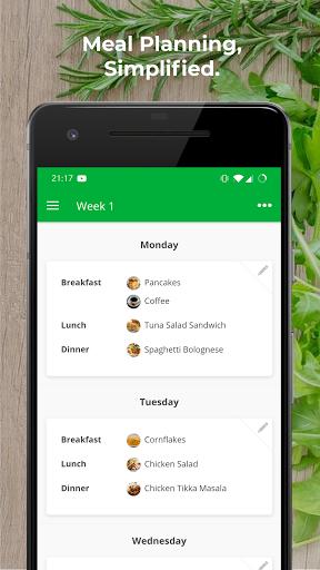 Plan Meals - MealPlanner modavailable screenshots 1