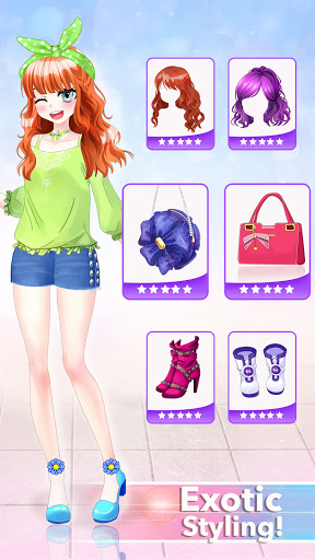 Anime Dress Up Queen Game for girls 0.1 screenshots 5