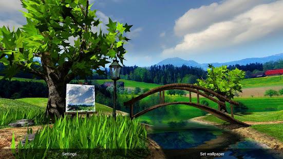 Parallax Nature: Summer Day 3D Gyro Wallpaper