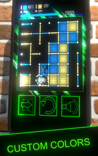 Dots and Boxes (Neon) 80s Style Cyber Game Squares apkdebit screenshots 2