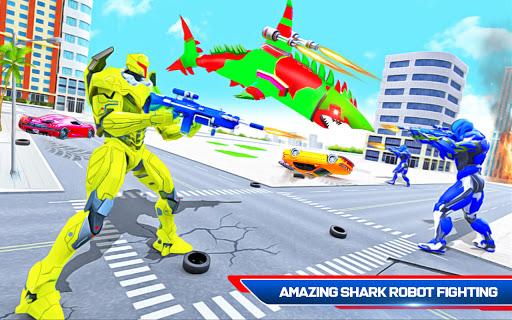 Robot Shark Attack: Transform Robot Shark Games apkpoly screenshots 7