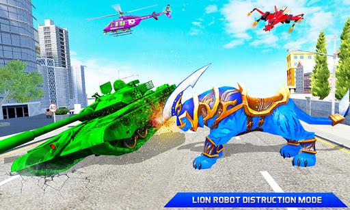 Flying Tank Transform Robot War: Lion Robot Games 10.3.0 Screenshots 2
