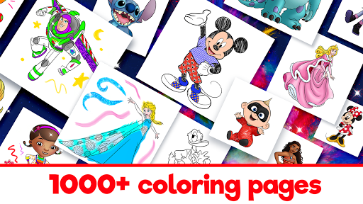 Disney Coloring World - Color & Play Kids Games  screenshots 2