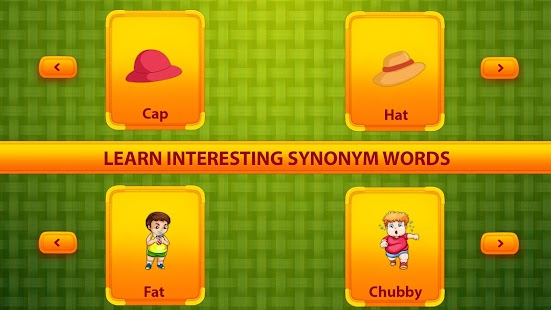 Learn Synonym Words for kids - Similar words Screenshot