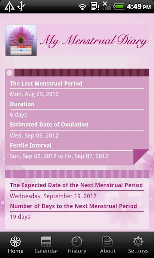My Menstrual Diary 3.4.3 Screenshots 3