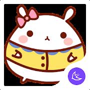 Cute lovely Rabbit-APUS Launcher theme