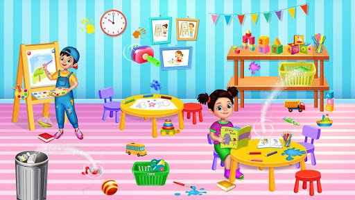 Messy High School Cleaning: Girl Room Cleanup Game screenshots 2