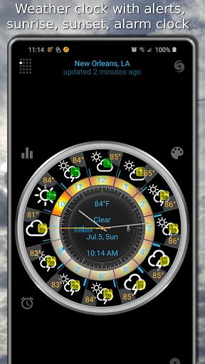 Weather app & widget with barometer: eWeather HDF  Screenshots 1