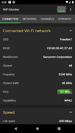 WiFi Monitor: analyzer of WiFi networks modavailable screenshots 1