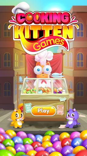 Kitten Games - Bubble Shooter Cooking Game apkmr screenshots 3
