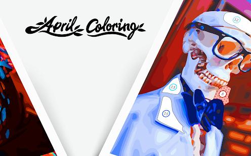 April Coloring - Oil Painting Apkfinish screenshots 12