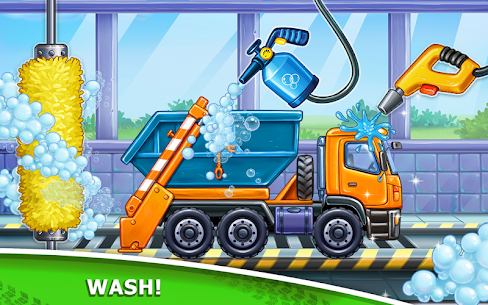 Truck games for kids – build a house, car wash 2