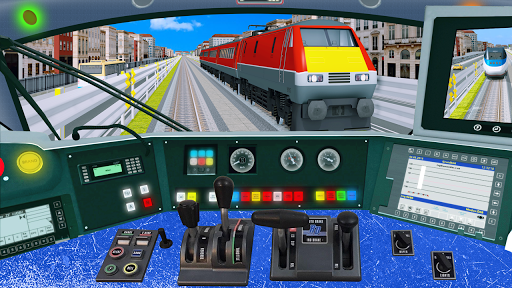 Modern Train Driving Simulator: City Train Games screenshots 1