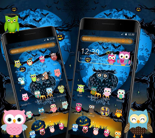 halloween night owl theme screenshot 1