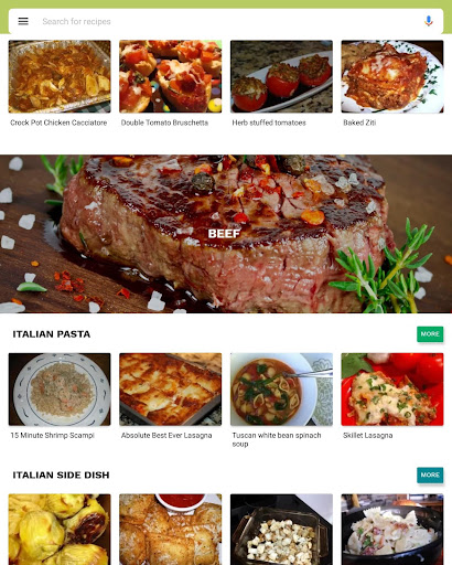 Foto do Italian recipes app