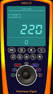 Digital Multimeter/Oscilloscope Free 1.7.4 Mod + Data for Android 1