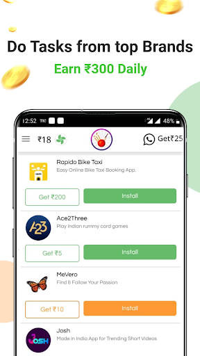 Earn Wallet cash, Free mobile Recharge & coins  screenshots 1
