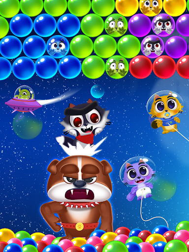 Space Cats Pop - Kitty Bubble Pop Games apkmr screenshots 9