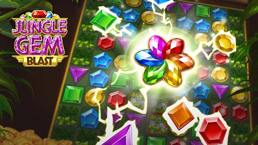 Jungle Gem Blast: Match 3 Jewel Crush Puzzles  screenshots 6