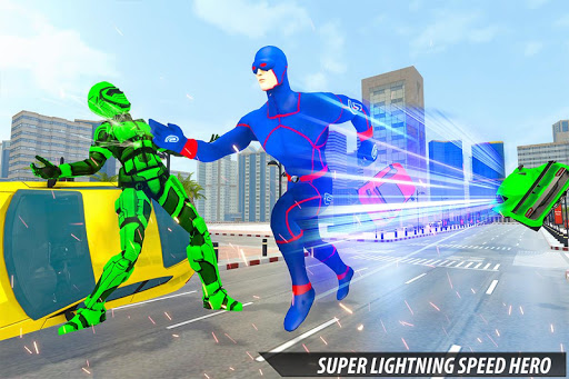 Grand Light Speed Robot Hero City Rescue Mission 2.0 screenshots 5