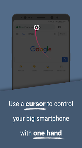 Foto do Reachability Cursor: one-handed mode mouse pointer