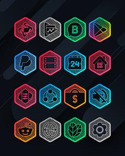Lines Hexa - Neon Icon Pack - Screenshot 7