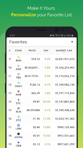 CoinGeckou00a0- Bitcoin & Cryptocurrency Price Tracker Apkfinish screenshots 6