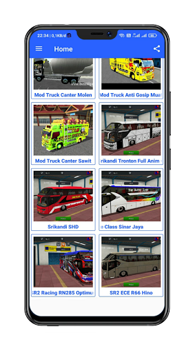 Mod Bussid Truck Wahyu Abadi : 2021 13.0 Screenshots 18