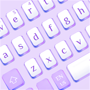 Fashion Purple White Keyboard