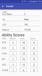 Character Sheet (3.5) screenshots 2