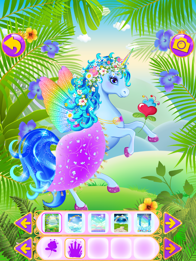 Unicorn Dress Up - Girls Games apkslow screenshots 6