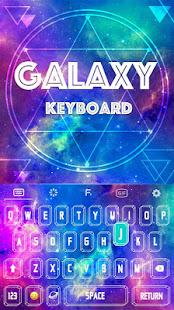 Color Keyboard Galaxy Theme