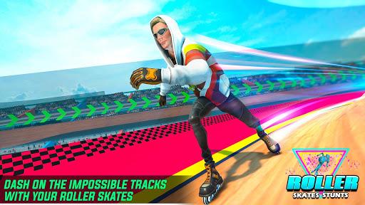 Sky Roller Skate Stunt Games 2021 - Roller Skating 2.1 screenshots 2