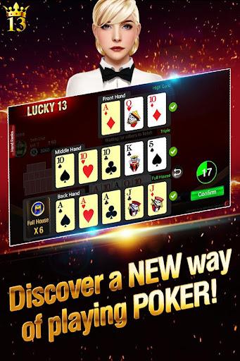 Lucky 13: 13 Poker Puzzle modiapk screenshots 1