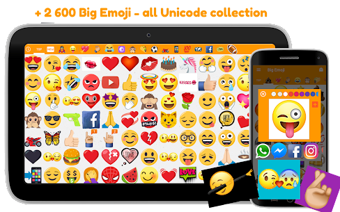 Big Emoji Mod Apk- large emoji for all chat messengers (Premium Feature Unlock) 7.0.0 9