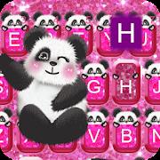 Hot Pink Panda keyboard Theme