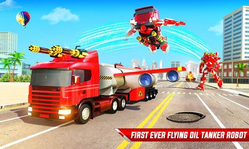 Flying Oil Tanker Robot Truck Transform Robot Game 33 Screenshots 1