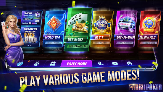 Augu Poker - Real Texas Hold'em Poker Free Online 1.2.7 screenshots 1