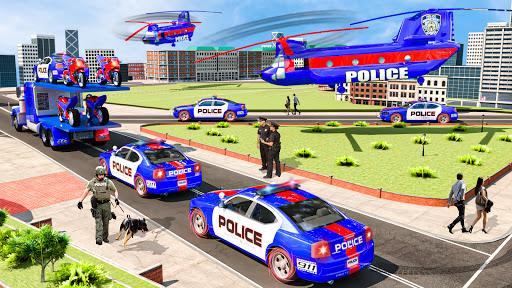US Police Multi Level Car Transporter Truck 2021 apktram screenshots 3