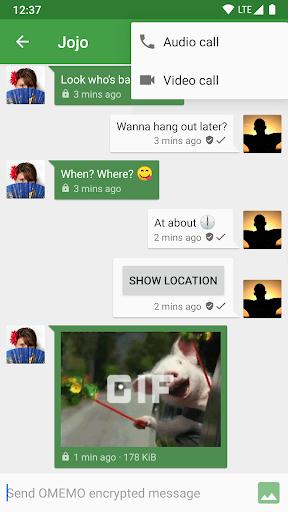 Conversations (Jabber / XMPP) screen 2