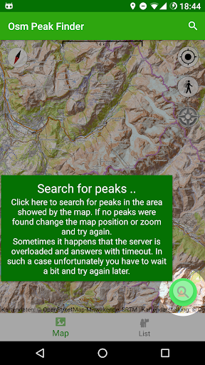 osm peak finder screenshot 1