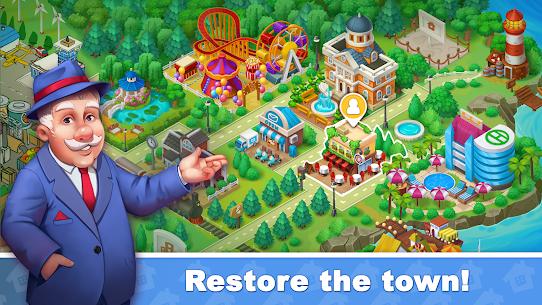 Town Blast: Restore & Decorate the Town! Match 3 Mod 0.9.0 Apk (Unlimited Gold/ Diamonds) 1