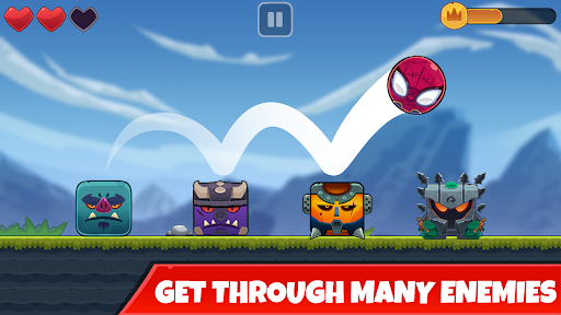 Red Bounce Ball: Jumping and Roller Ball Adventure  screenshots 2
