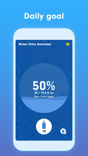 WaterBy: Water Drink Tracker Reminder & Alarm 1.7.2 Screenshots 2