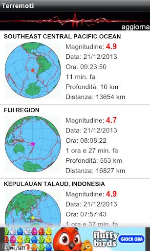 Terremoti ed alert  Screenshots 2